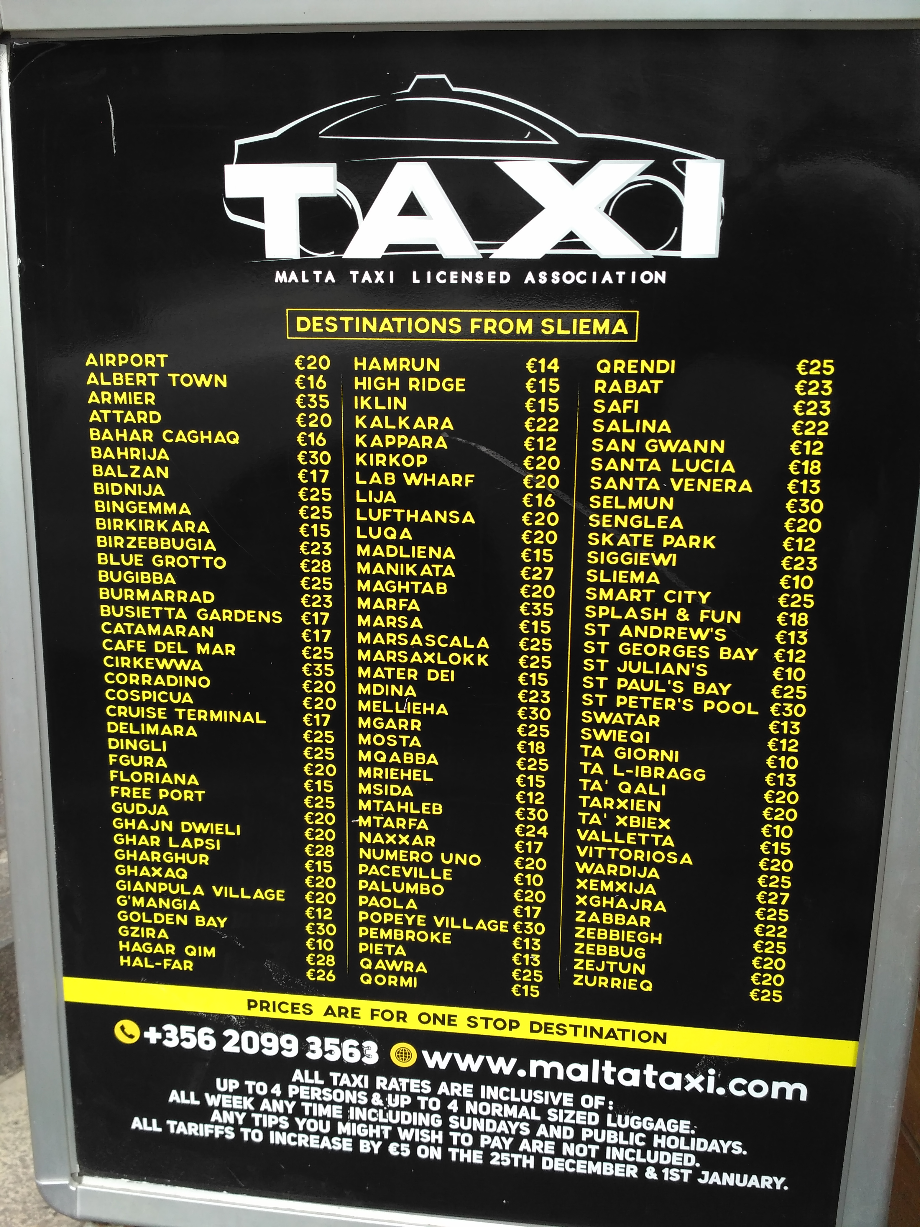taxi-à malte